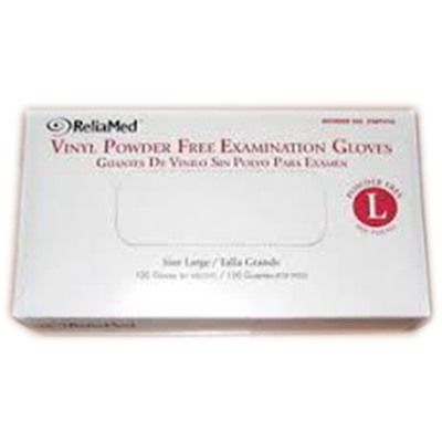 Reliamed vinyl pf gloves