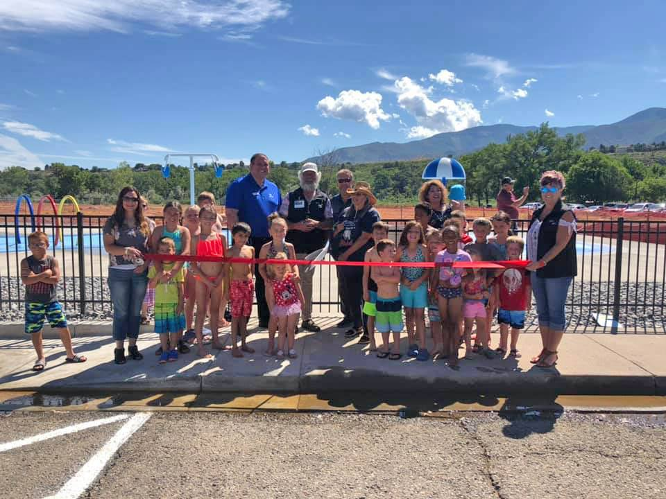 Rifle Pool ribbon cutting