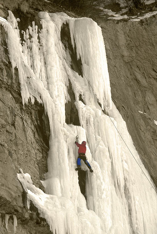 ice climbing in Rifle Colorado