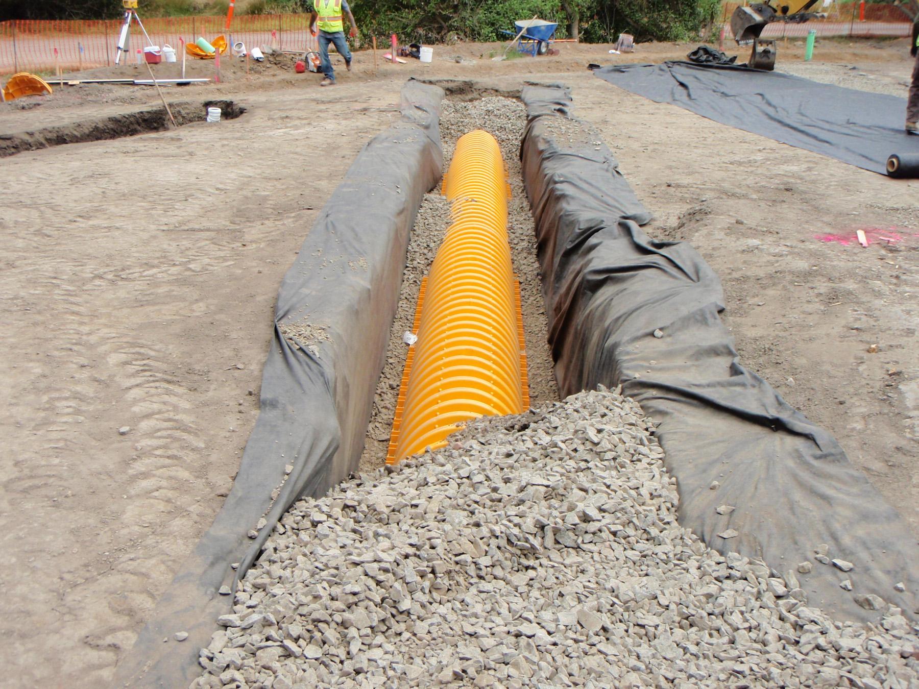 Agate Beach parking lot construction