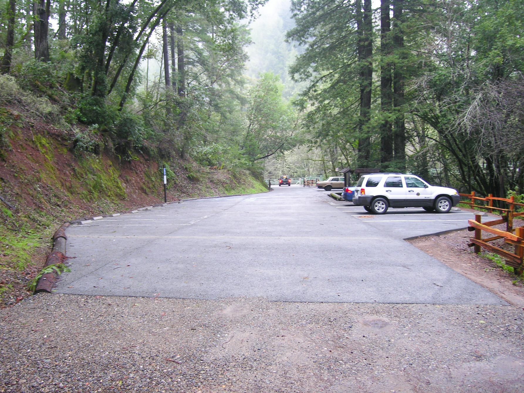 permeable pavement parking lot