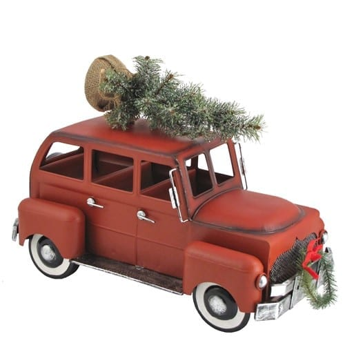 Metal Christmas Car Miniataure
