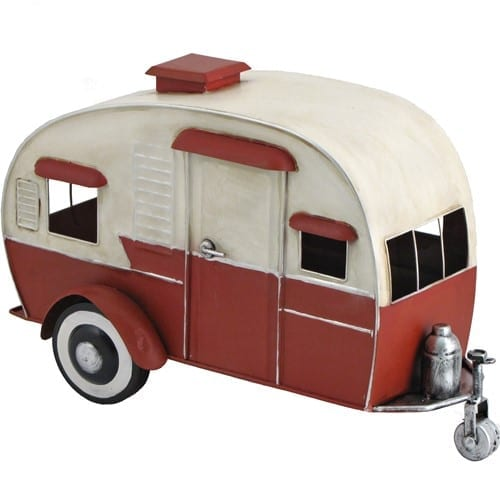 Metal Retro Camper Miniature