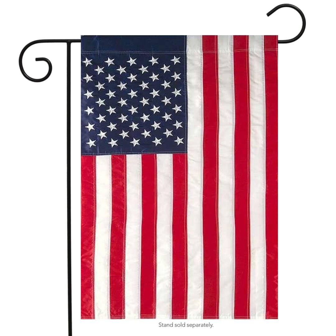 USA flag embroidered Garden Flag