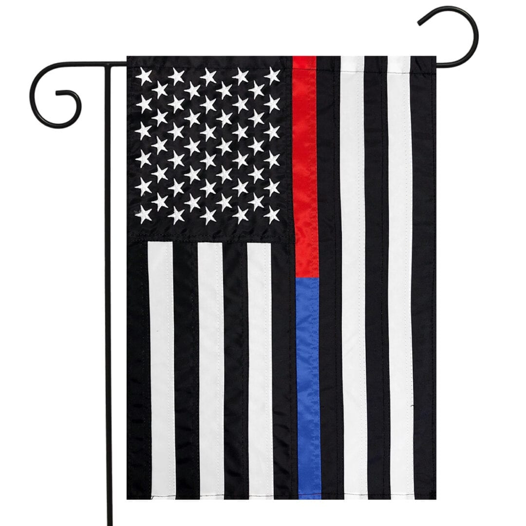 Dual Line USA Embroidered Garden Flag