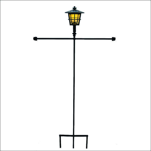 Solar Light Double Flag Garden Stand