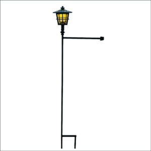 Garden Flag Stand with Solar Light
