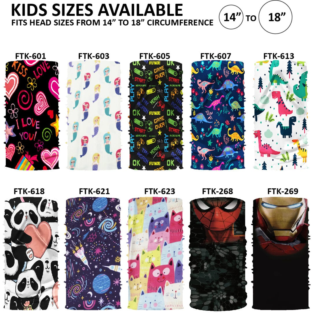 Kids Prints in Face Tubes