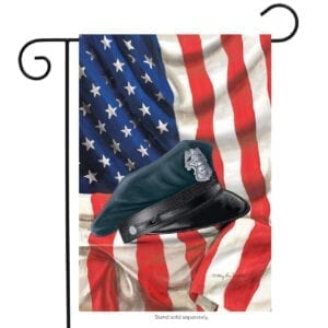 USA Garden Flag with Police Hat