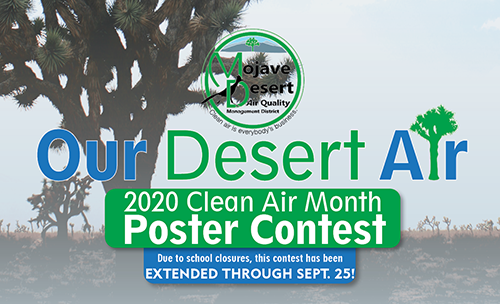 We need students to help us illustrate Our Desert in the 2020 Clean Air Month Poster Contest!