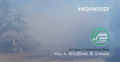 #AQAW2020 kicks off May 4 with a day devoted to information on the risks to air quality from wildfires and smoke.