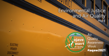 This image shows an all-electric, battery powered school bus. The bus helps illustrate a facet of the topic of environmental justice, namely where air pollution affects certain groups unequally, as is the case with school children who need school-provided transportation.