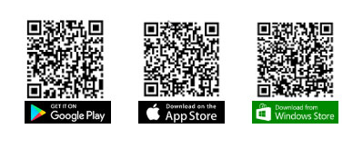 Aeronet Mobile app download QR codes