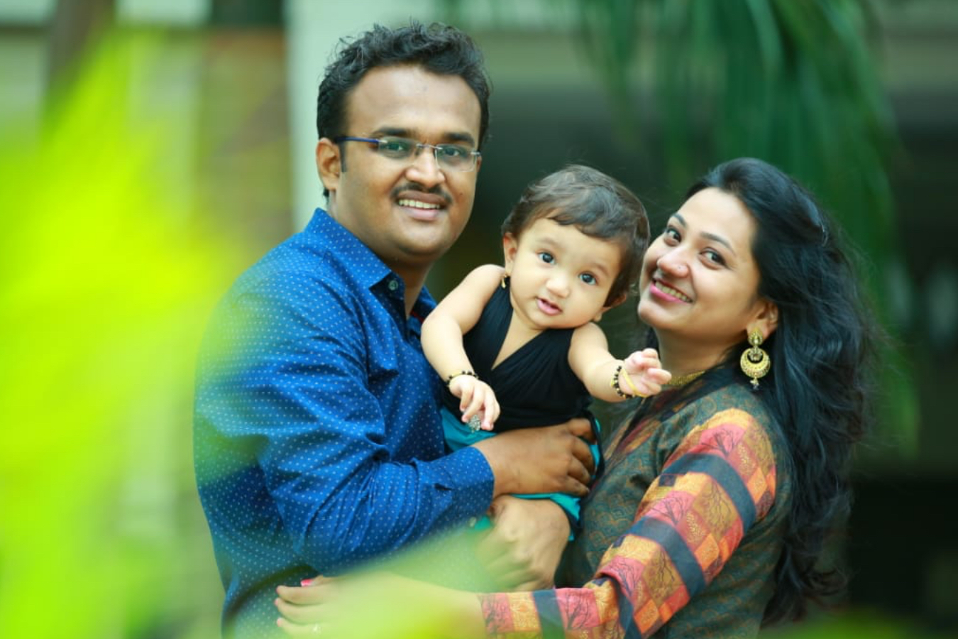 Client Sukanya & Pankaj with their Baby