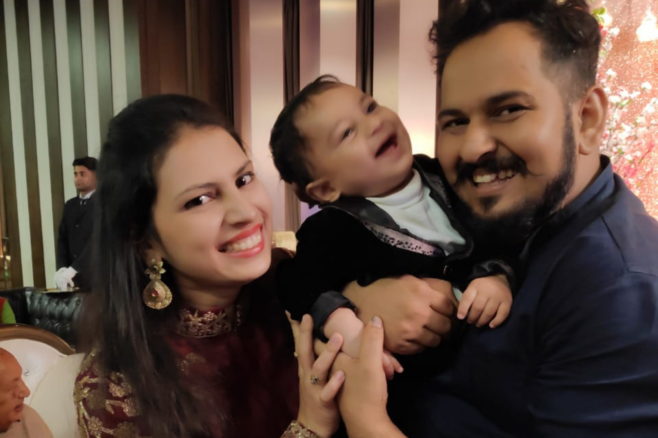 Client Monali & Piyush with their Baby