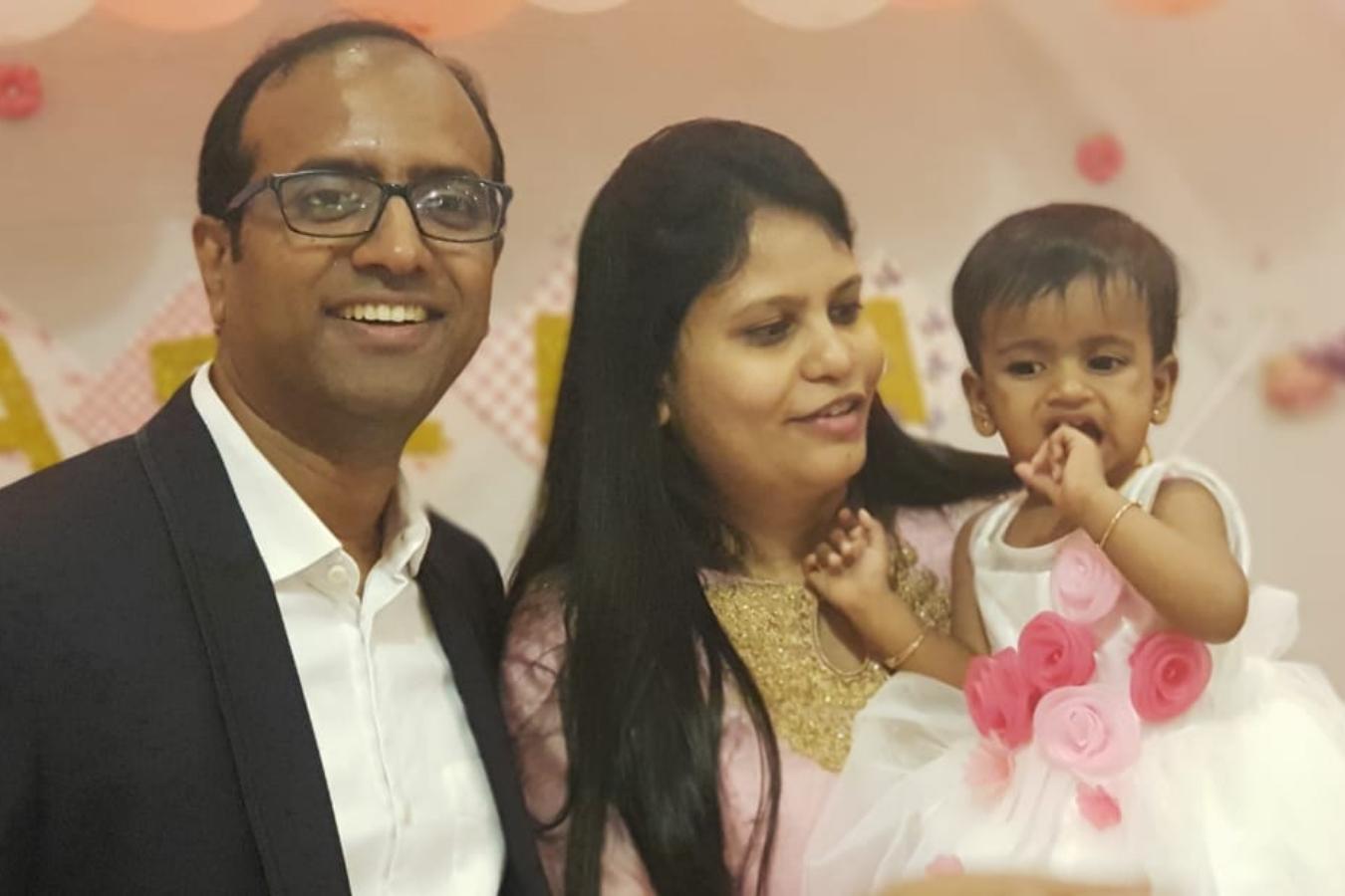 Client Neelima & Manoj with their Baby