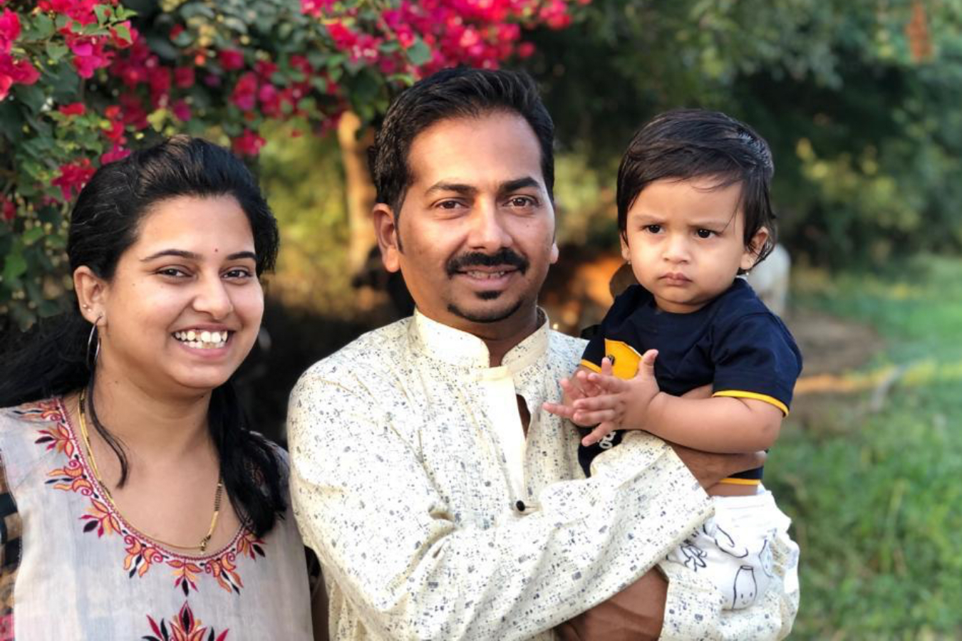Client Anagha & Kshitij with their Child