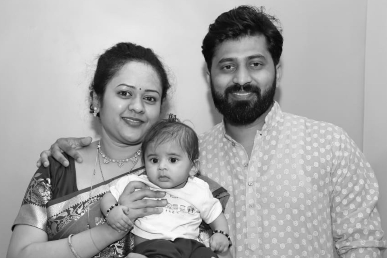 Client Aditi & Gajendra with their Baby