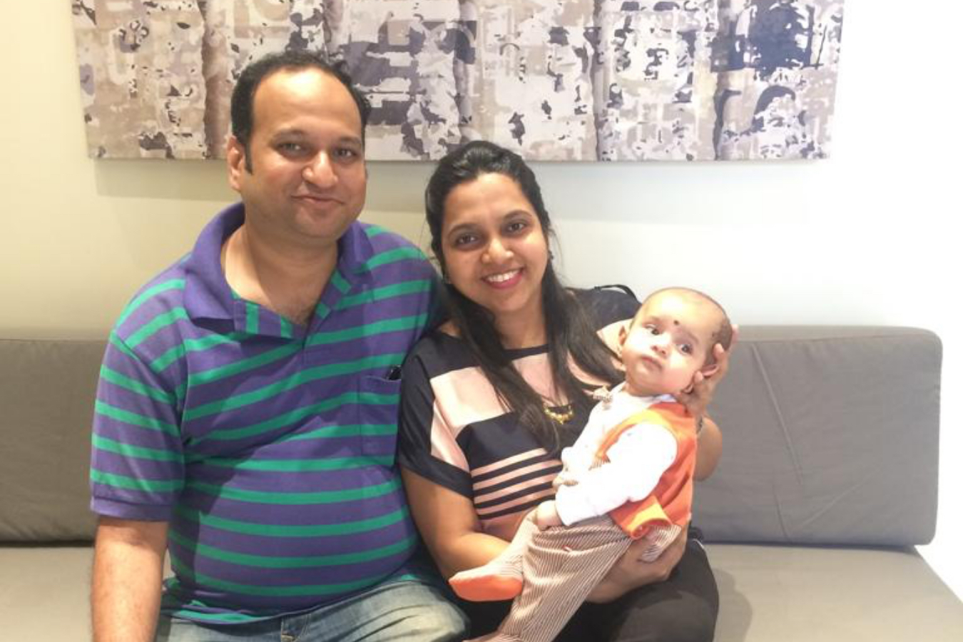 Client Bhakti & Rohit with their Baby