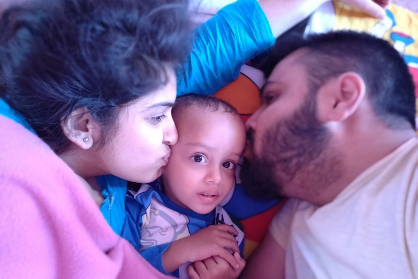 Client Gayatri & Parag with their Baby
