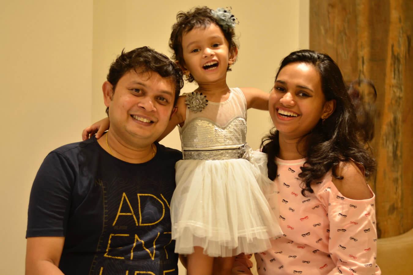Client Prachi & Amit with their Child
