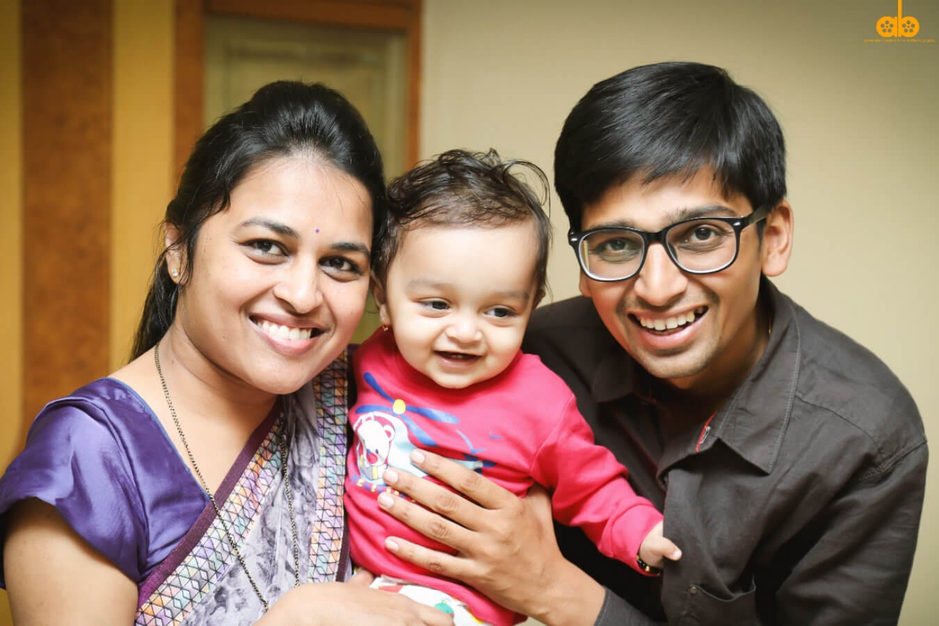 Client Bhagyashree & Sumit with their Child