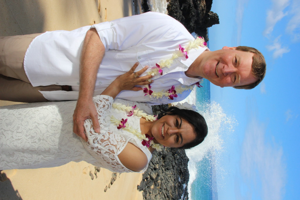 Maui Vow Renewal at Secret Beach Makena Cove beach ceremony
