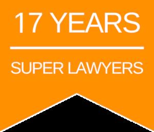 Rogge Dunn Super Lawyers 17 Years Badge