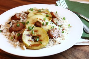 Grilled-Chicken-Apple-Sausage-dinner-30-minute-meal