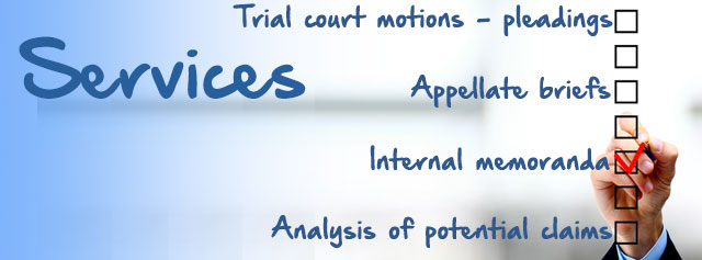 Lawyers legal Research services