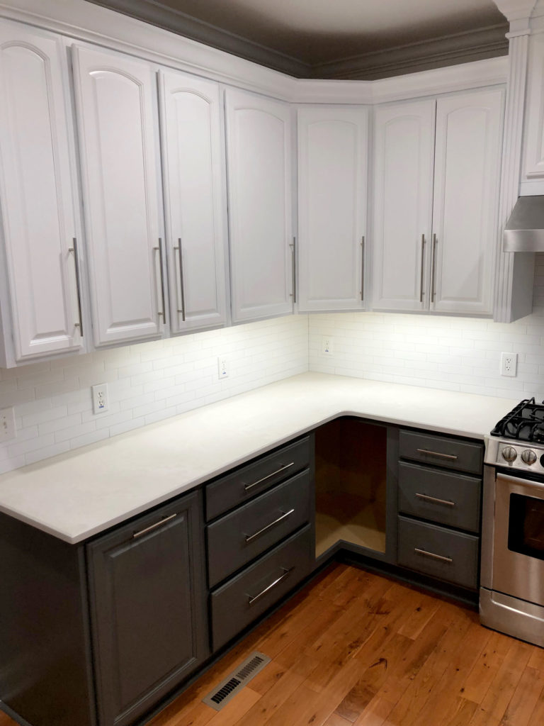 two-toned kitchen cabinets - kitchen wish list