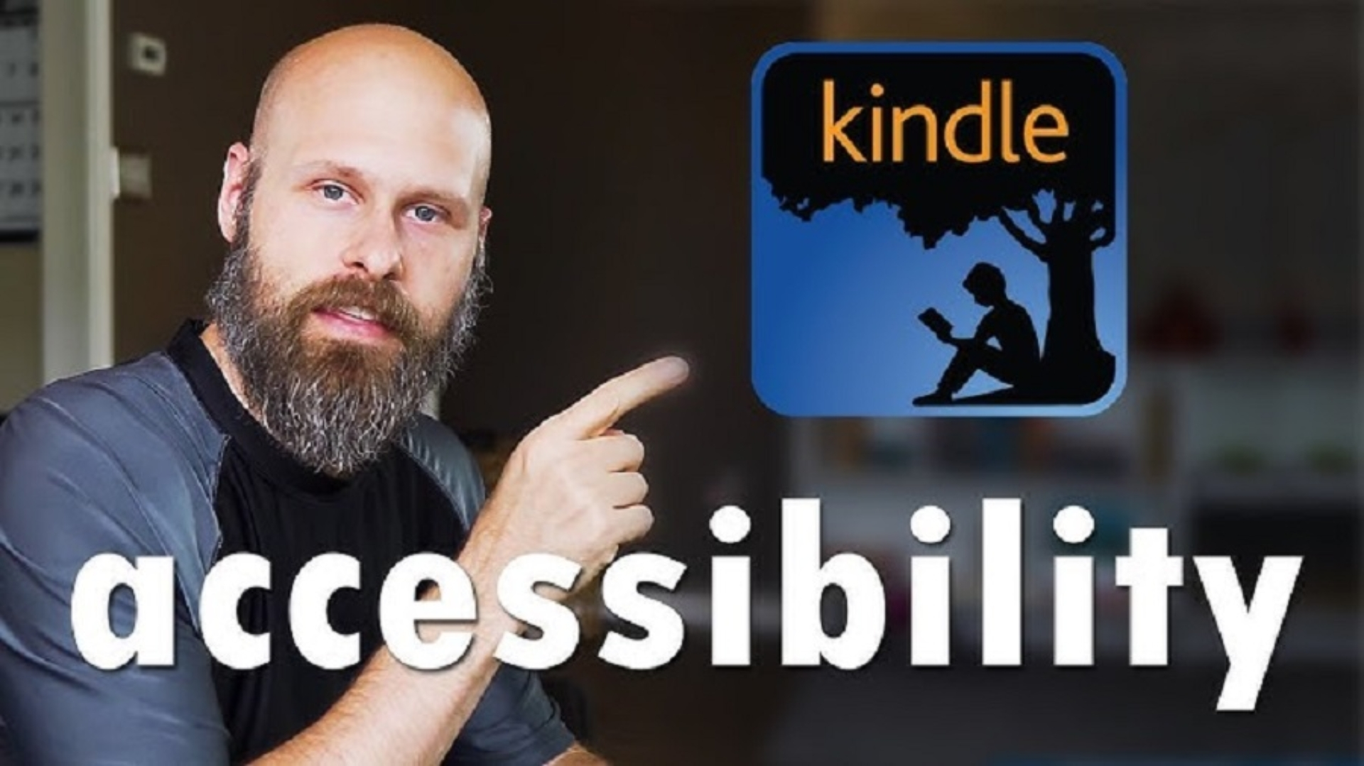 Sam Seavey reviewing the Kindle for Accessibility