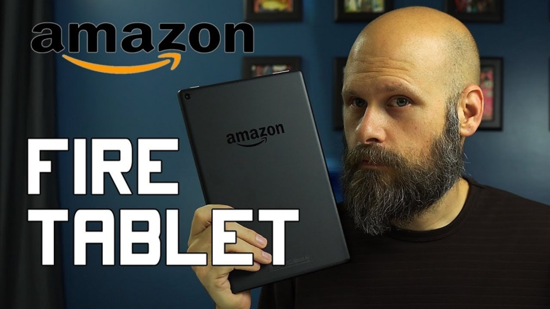 Sam Seavey reviewing the Amazon Fire Tablet