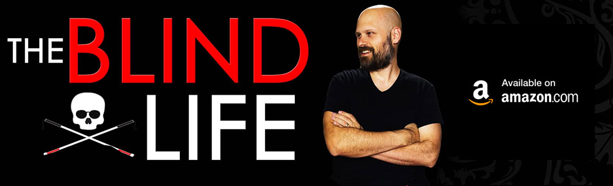 Amazon store banner for The Blind Life