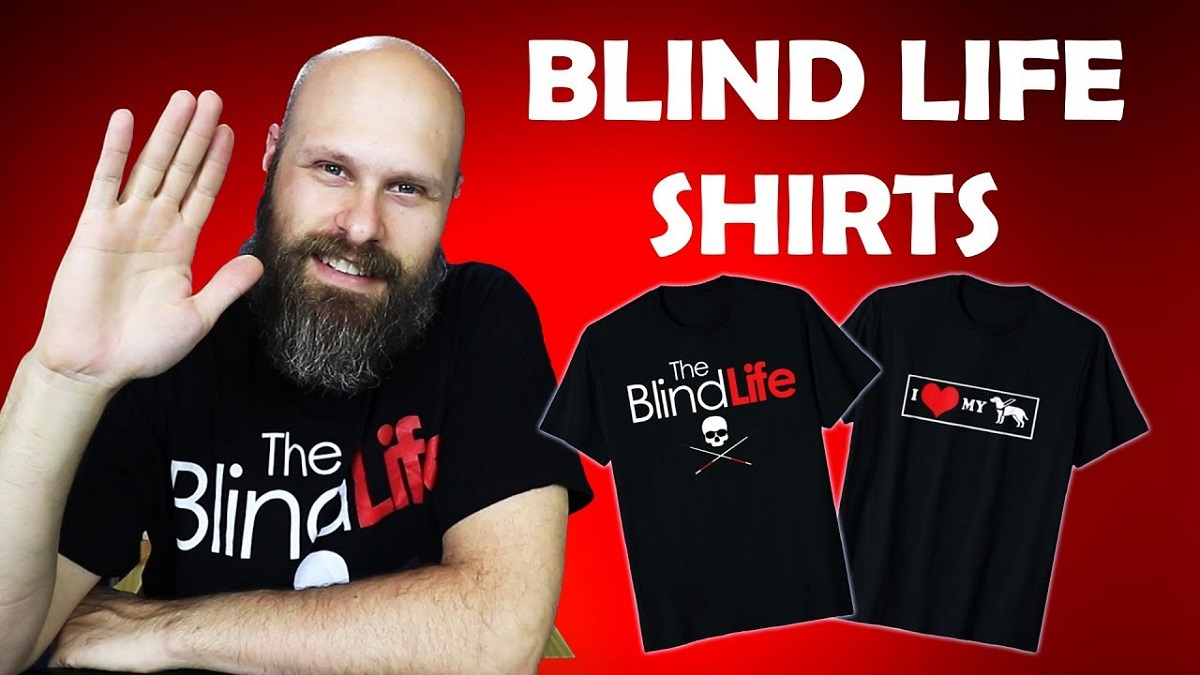 Sam with Blind Life t-shirts