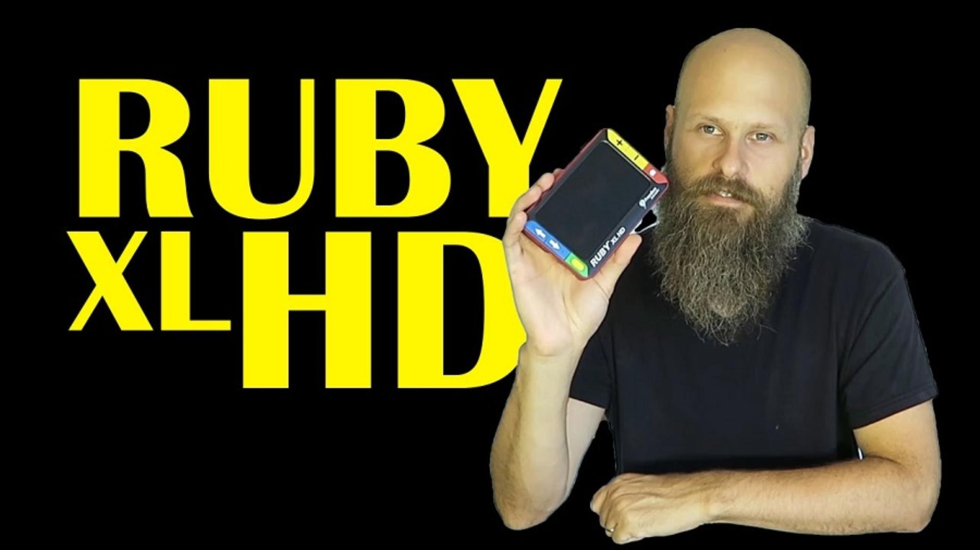 Sam trying the Ruby XL HD