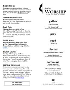 Sunday 2.9.20 Bulletin