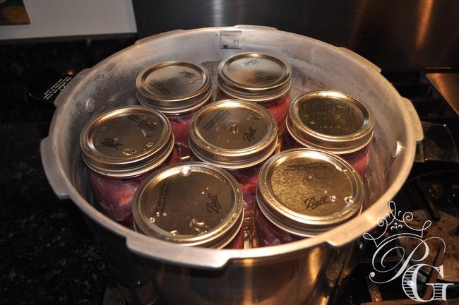 Pressure-Cooker-Venison canning venison