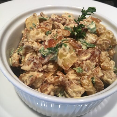 Duck-Fat-Fried Potato Salad