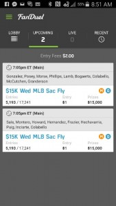 Top Line Up is Cash Games and Bottom Line up is GPP.