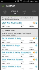 My GPP and Cash Line ups for tonight