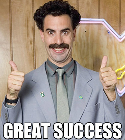 Borat - Outfield Sleepers Great-Success