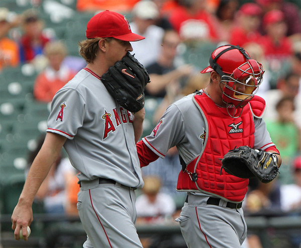 Jered Weaver, L.A. Angels -- Photo Credit: Keith Allison