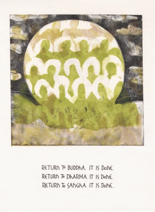 return to buddha by dl with text by martha dahlen