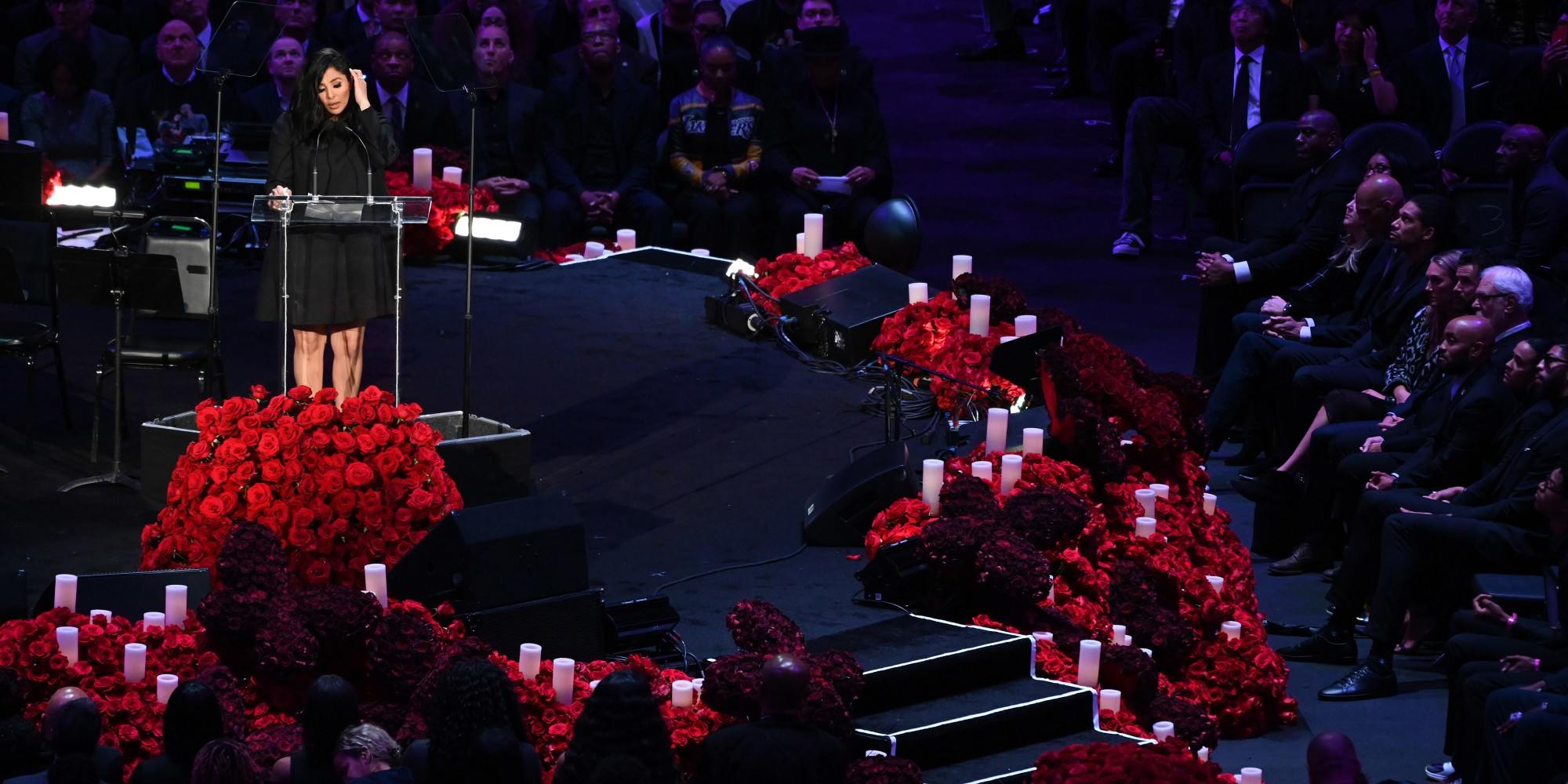 Kobe Bryant and Daughter Gianna Honored at Staples Center Memorial