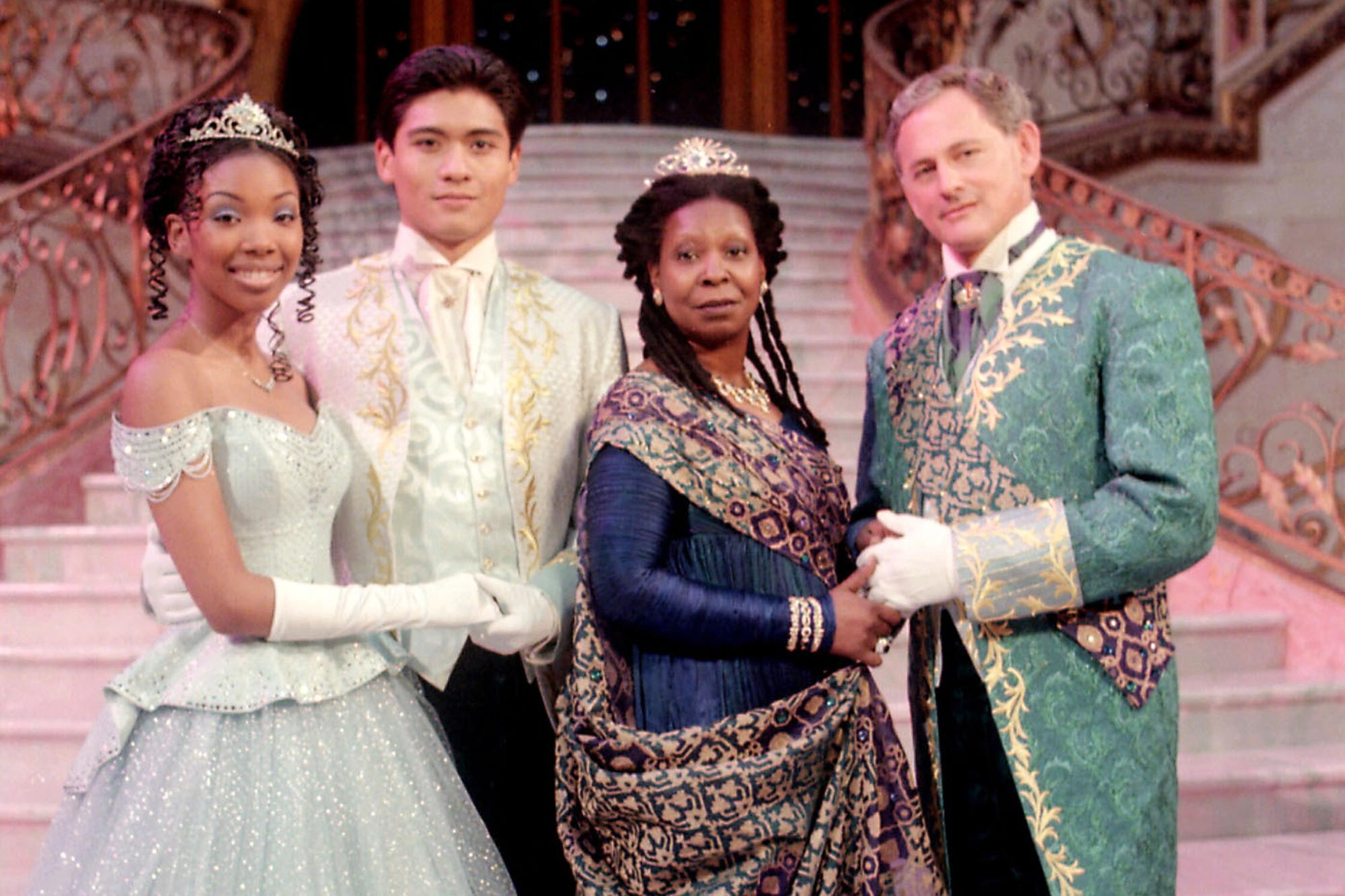 Brandy, Paolo Montalban, Whoopi Goldberg and Victor Garber