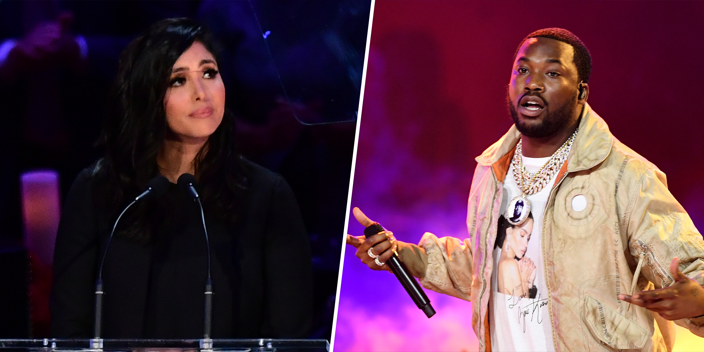 Vanessa Bryant called out rapper Meek Mill for a reference to Kobe Bryant.
