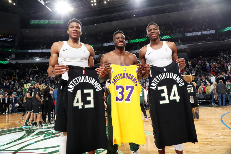 The Antetokounmpo Brothers Become First Three Brothers to Win an NBA Championship