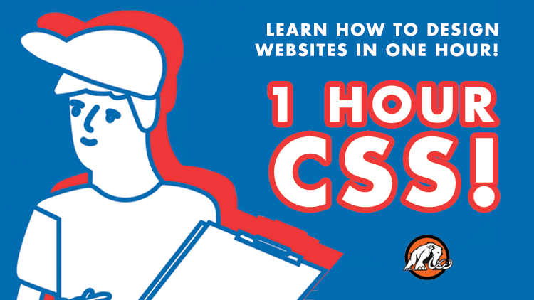 1 Hour CSS Course Cover Image with Student Designer