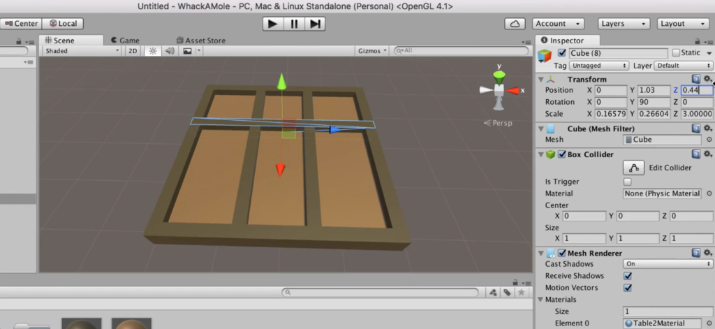 Making a Table in Unity 2